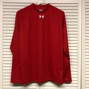 Under Armour Top, Size Small, Red, Heat Gear